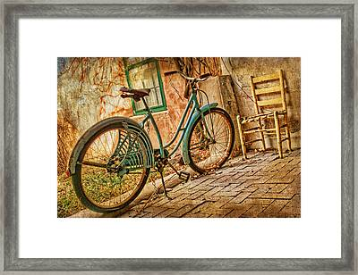 Back Patio Framed Print