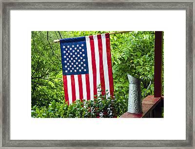 Back Porch Americana Framed Print by Carolyn Marshall