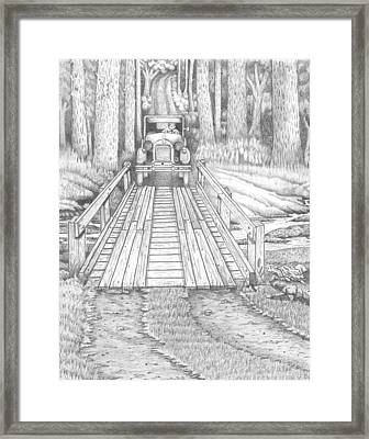 Back Road Bridge Framed Print by David Gallagher