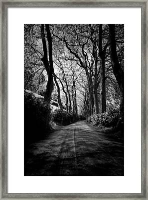 Back Road East 2 Framed Print