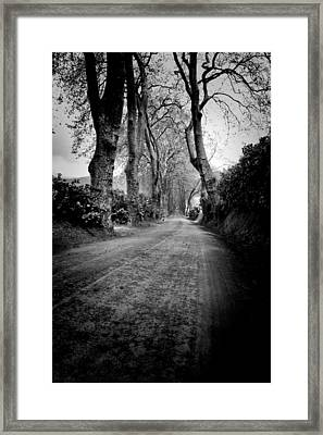 Back Road East Framed Print