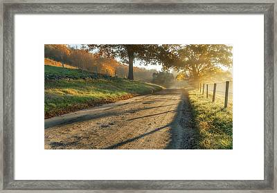 Back Road Morning Framed Print by Bill Wakeley