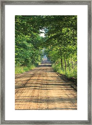 Back Road Morning Framed Print