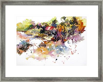 Back Road Framed Print