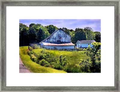 Back Roads Country Barn Framed Print by Virginia Folkman