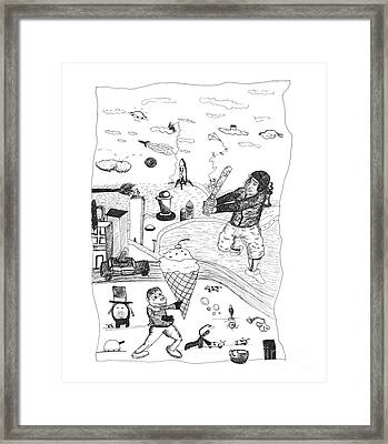Back Rooms Of My Mind Door 17812 Framed Print by Michael Mooney