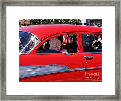Framed Print featuring the photograph Back Seat Marilyn by Ed Weidman