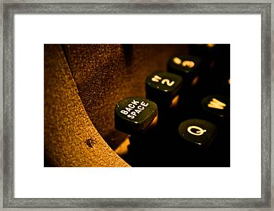 Back Space Framed Print by Joel Loftus