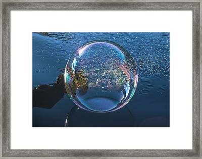 Back Splash Framed Print