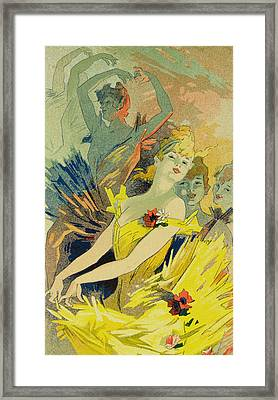 Back-stage At The Opera Framed Print by Jules Cheret