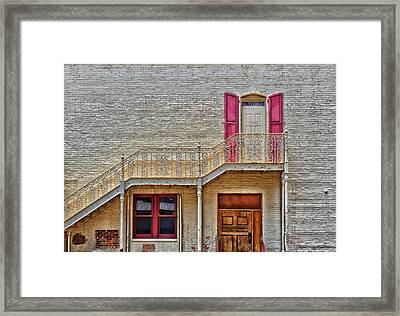 Back Stairs - Near Church Street Orlando Florida Framed Print