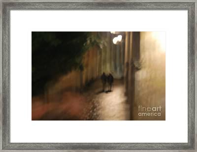 Back Street Of Barcelona Cathedral Framed Print by Erhan OZBIYIK