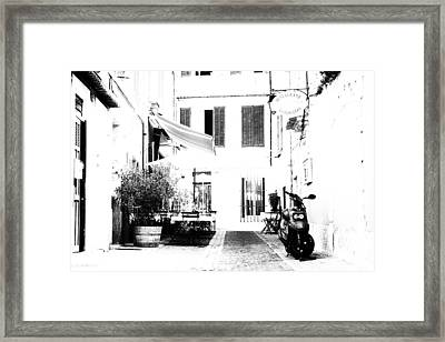 Back Streets Of A French Town Framed Print by Georgia Fowler