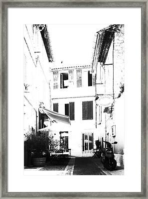 Back Streets Of A French Town - Vertical Framed Print