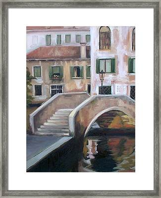 Back Streets Of Venice Framed Print