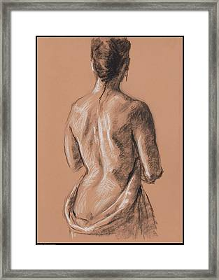 Back Study Framed Print by Diana Moses Botkin