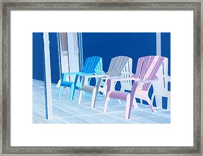 Framed Print featuring the photograph Back To Back At The Beach by Marie Neder