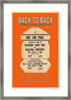 Back To Back Rivalry Wins Framed Print
