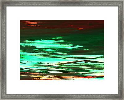 Back To Canvas The Landscape Of The Acid People Framed Print