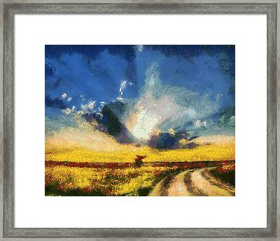 Framed Print featuring the painting Back To Goodbye by Joe Misrasi