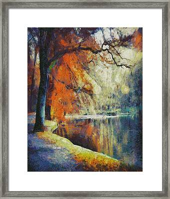 Framed Print featuring the painting Back To Our Dreams by Joe Misrasi