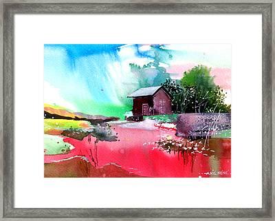 Back To Pavilion Framed Print by Anil Nene