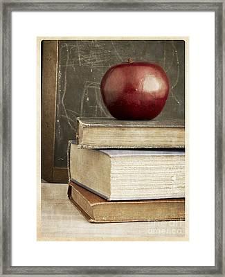 Back To School Apple For Teacher Framed Print