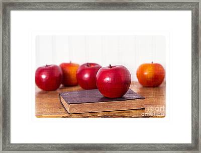 Back To School Apples Framed Print by Edward Fielding