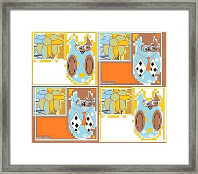 Back To School Owl Framed Print
