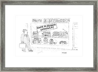 'back To School Specials!' Framed Print by Robert Mankoff