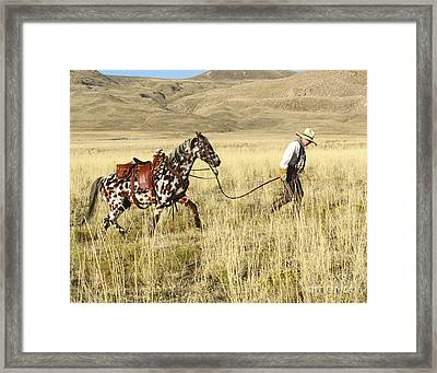 Back To The Barn Framed Print by Dennis Hammer