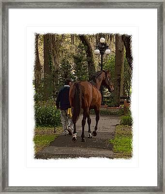 Back To The Barn Framed Print by Wynn Davis-Shanks