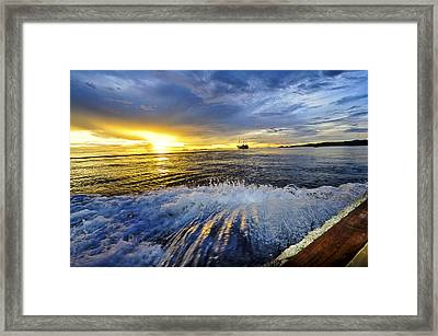 Back To The Boat Framed Print