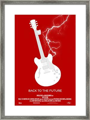 Back To The Future Custom Poster Framed Print by Jeff Bell