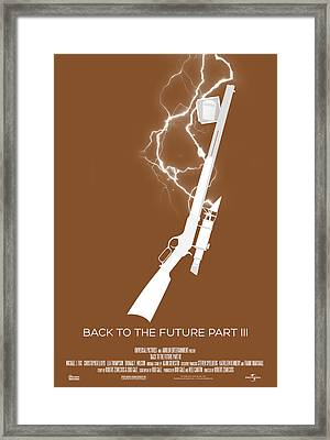 Back To The Future Part 3 Custom Poster Framed Print by Jeff Bell