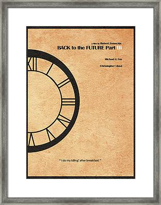 Back To The Future Part IIi Framed Print by Ayse Deniz