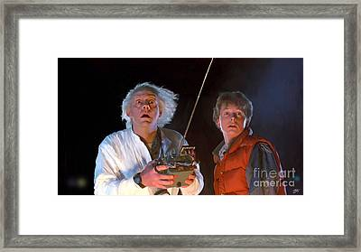 Back To The Future Framed Print by Paul Tagliamonte