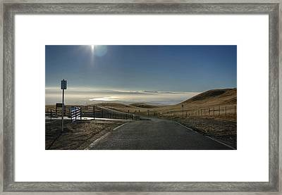 Back To The Future Framed Print by Peter Thoeny