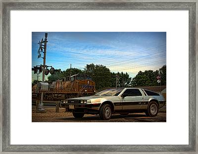 Back To The Future Framed Print by Tim McCullough