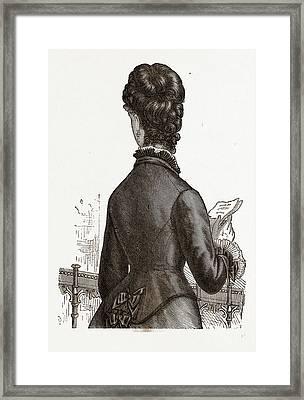 Back View, 19th Century  Fashion Framed Print