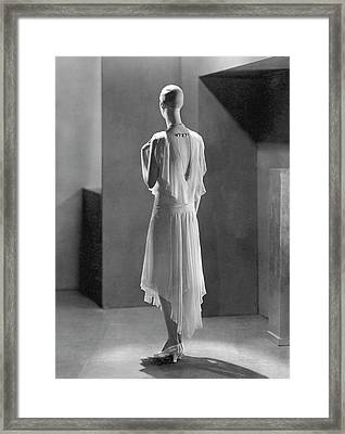 Back View Of A Mannequin Designed By Siegel Framed Print by George Hoyningen-Huene