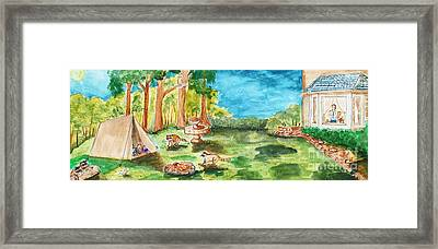 Back Yard Camp Framed Print