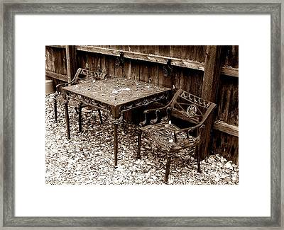 Back Yard Iron Framed Print by Tom Riggs