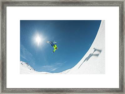 Backcountry Backflip Framed Print