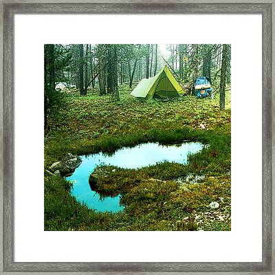 Backcountry Camp Framed Print by Ric Soulen
