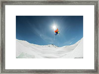 Backcountry Kicker Locals Only Framed Print