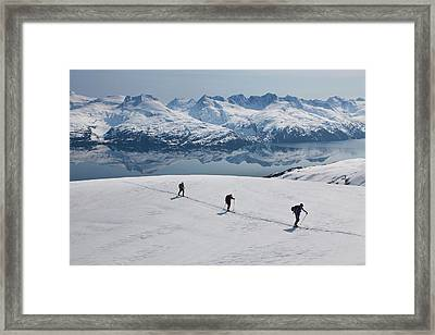 Backcountry Skiing In Prince William Framed Print