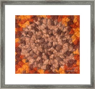 Background - Textile Pattern Framed Print