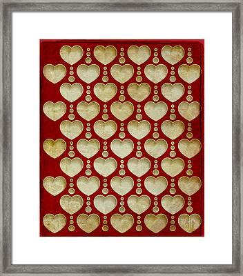 Background Heart  Framed Print by Irina Effa