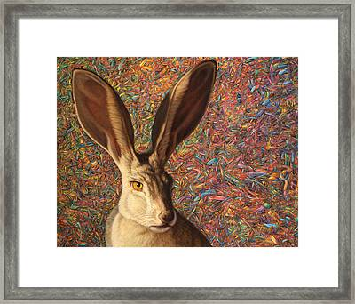 Background Noise Framed Print by James W Johnson